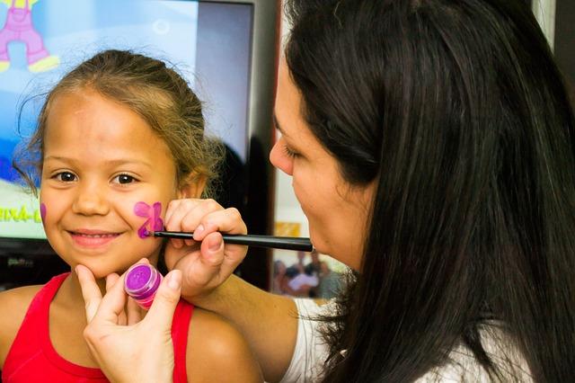 brincadeiras festa infantil pintura facial