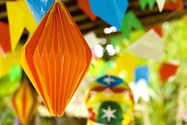 decoracao tema festas juninas; reciclavel, chique, simples, aniversario