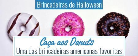 Brincadeiras de Halloween - Caça aos Donuts