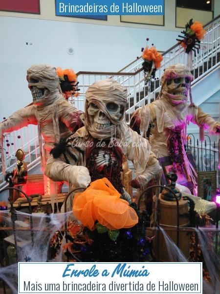Brincadeiras de Halloween - Enrole a Múmia