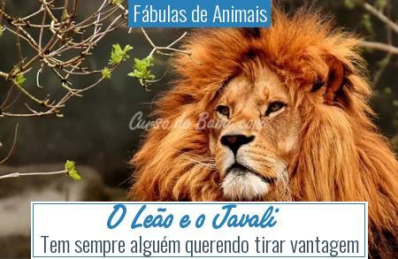 Fábulas de Animais - O Leão e o Javali