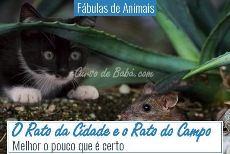 Fábulas de Animais - O Rato da Cidade e o Rato do Campo