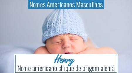 Nomes Americanos Masculinos - Henry