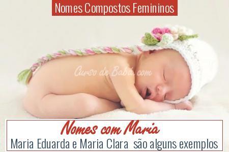Nomes Compostos Femininos - Nomes com Maria