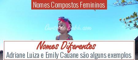 Nomes Compostos Femininos - Nomes Diferentes