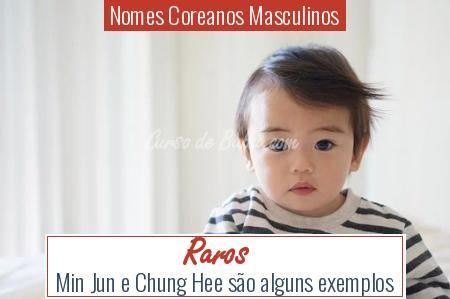 Nomes Coreanos Masculinos - Raros