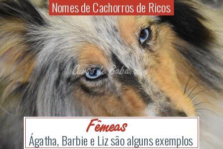 Nomes de Cachorros de Ricos - Fêmeas