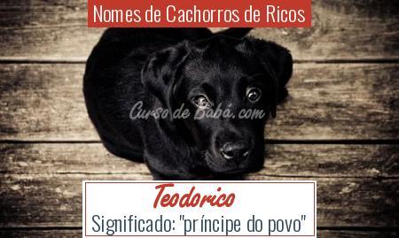 Nomes de Cachorros de Ricos - Teodorico