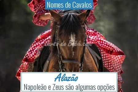 Nomes de Cavalos - Alazão
