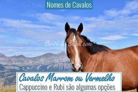 Nomes de Cavalos - Cavalos Marrom ou Vermelho