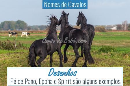 Nomes de Cavalos - Desenhos