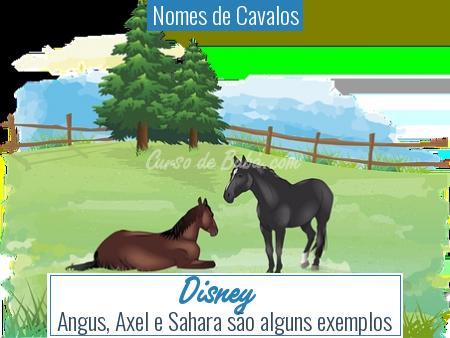 Nomes de Cavalos - Disney