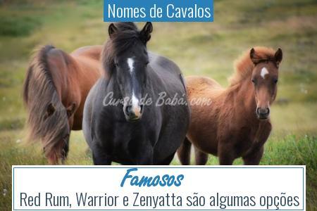 Nomes de Cavalos - Famosos