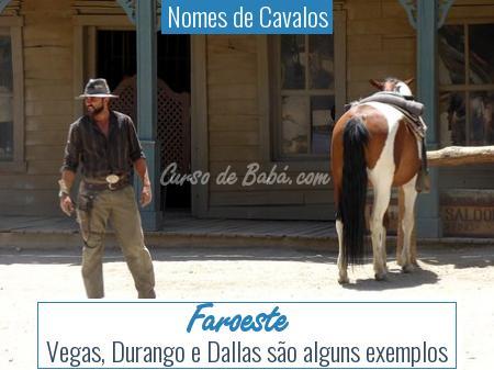 Nomes de Cavalos - Faroeste