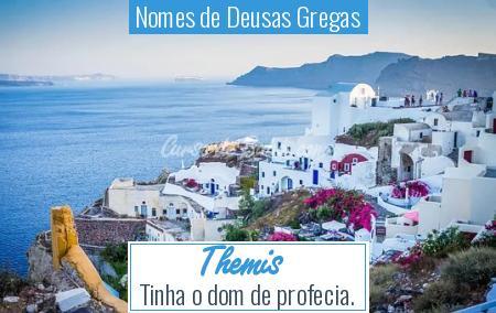 Nomes de Deusas Gregas - Themis