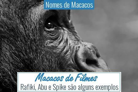 Nomes de Macacos - Macacos de Filmes