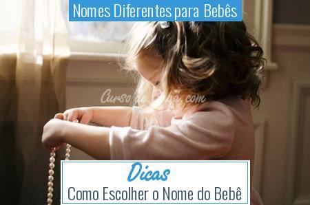 Nomes Diferentes para Bebês - Dicas