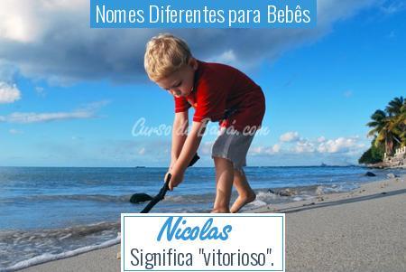 Nomes Diferentes para Bebês - Nicolas