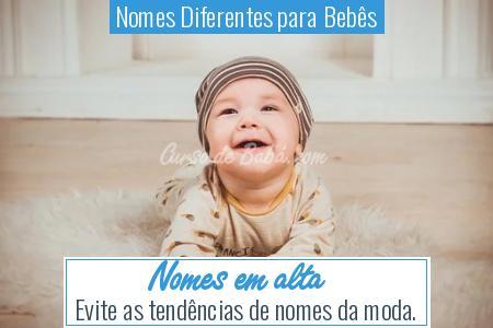 Nomes Diferentes para Bebês - Nomes em alta