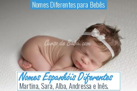 Nomes Diferentes para Bebês - Nomes Espanhóis Diferentes