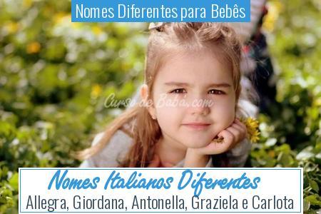 Nomes Diferentes para Bebês - Nomes Italianos Diferentes