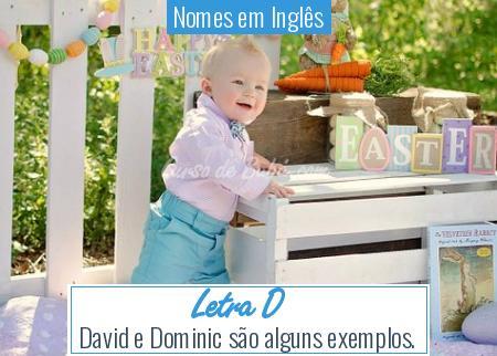 Nomes em Inglês - Letra D