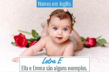 Nomes em Inglês - Letra E