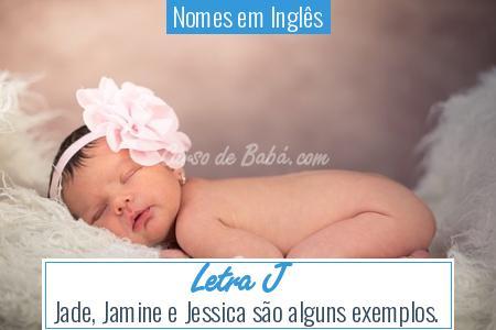 Nomes em Inglês - Letra J