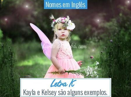 Nomes em Inglês - Letra K