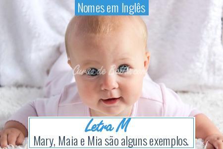 Nomes em Inglês - Letra M
