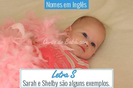 Nomes em Inglês - Letra S