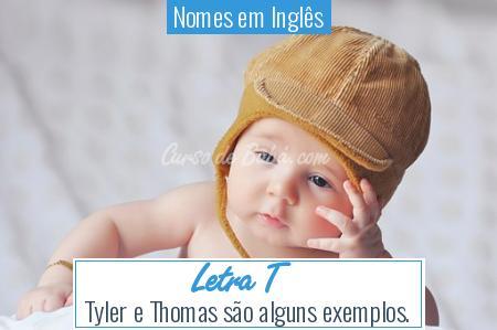 Nomes em Inglês - Letra T