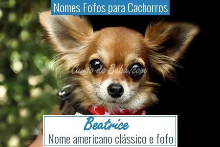 Nomes Fofos para Cachorros - Beatrice