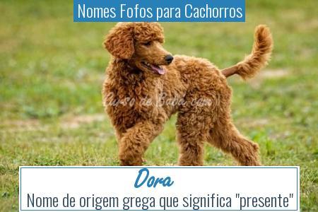 Nomes Fofos para Cachorros - Dora