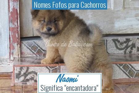 Nomes Fofos para Cachorros - Naomi