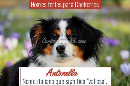 Nomes fortes para Cachorros - Antonella