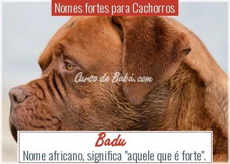 Nomes fortes para Cachorros - Badu