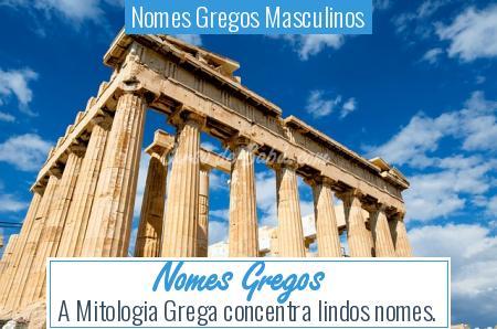 Nomes Gregos Masculinos - Nomes Gregos