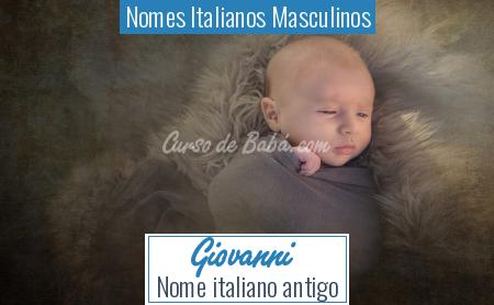 Nomes Italianos Masculinos - Giovanni