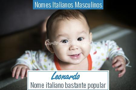 Nomes Italianos Masculinos - Leonardo