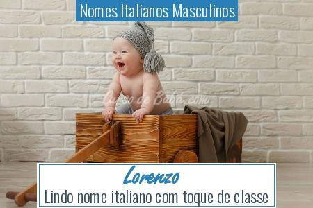 Nomes Italianos Masculinos - Lorenzo