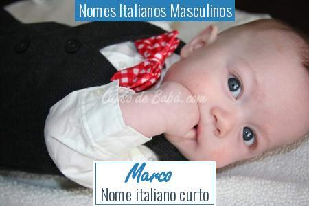 Nomes Italianos Masculinos - Marco