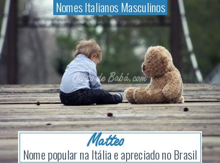 Nomes Italianos Masculinos - Matteo