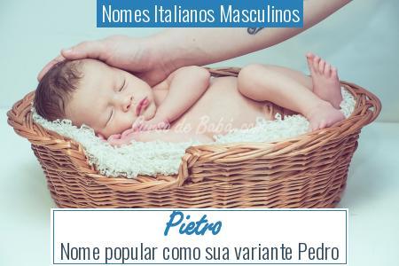 Nomes Italianos Masculinos - Pietro