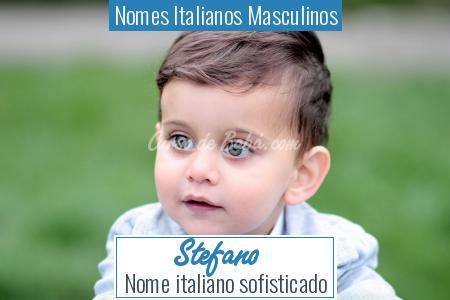 Nomes Italianos Masculinos - Stefano