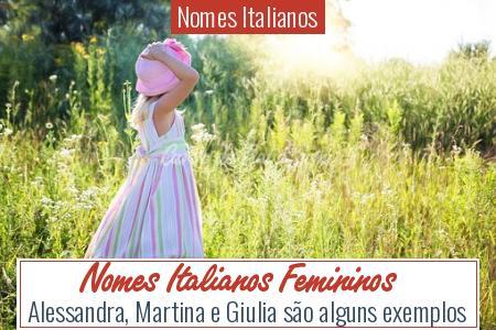 Nomes Italianos - Nomes Italianos Femininos