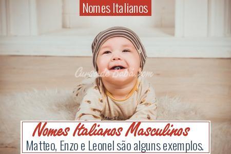 Nomes Italianos - Nomes Italianos Masculinos