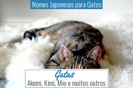 Nomes Japoneses para Gatos - Gatas