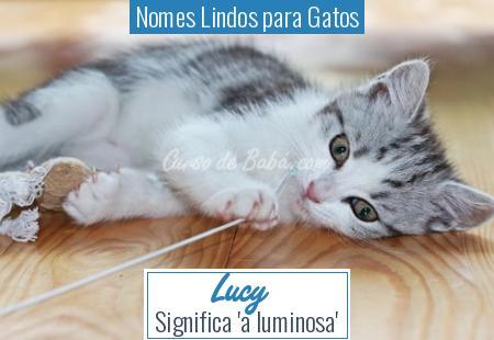 Nomes Lindos para Gatos - Lucy
