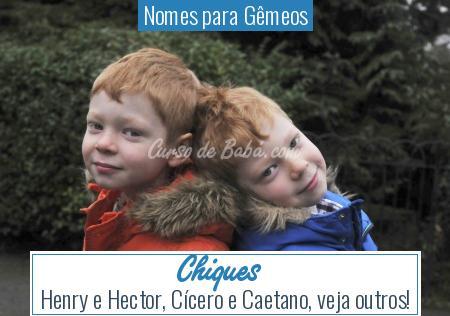 Nomes para Gêmeos - Chiques
